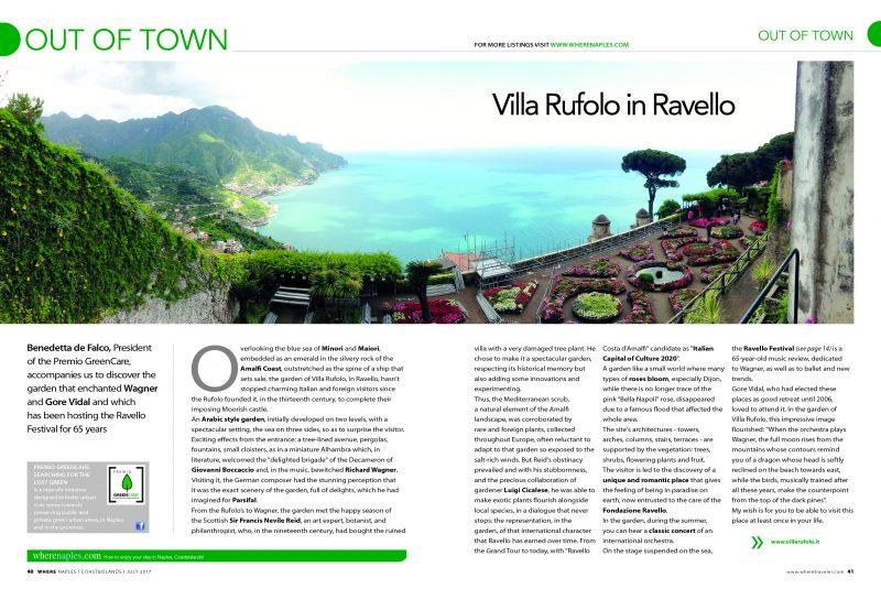 Villa Rufolo su Where Naples, luglio 2017