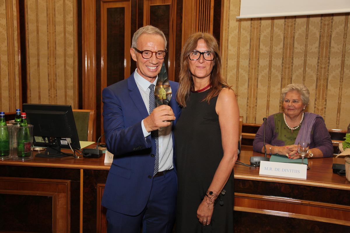 Sylvain Bellenger e Simonetta Zanon al Premio Speciale GreenCare 2017