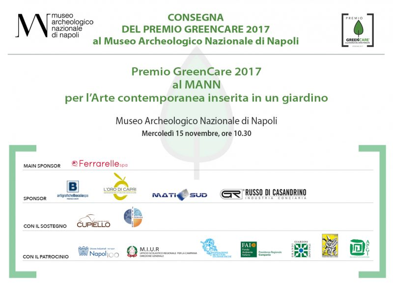 Cerimonia Premiazione GreenCare 2017