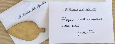 Il biglietto di auguri del Presidente della Repubblica