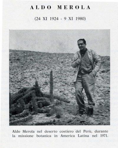 Aldo Merola, direttore dell'Orto Botanico di Napoli dal 1963 al 1980