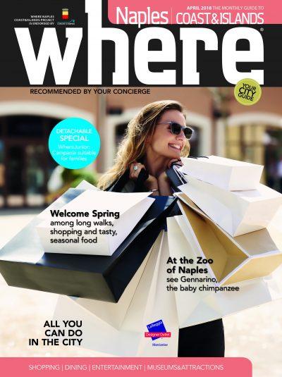 La cover di Where Naples - Coast & Islands, Aprile 2018