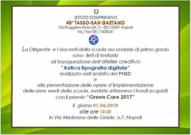 Invito 43° Tasso - San Gaetano