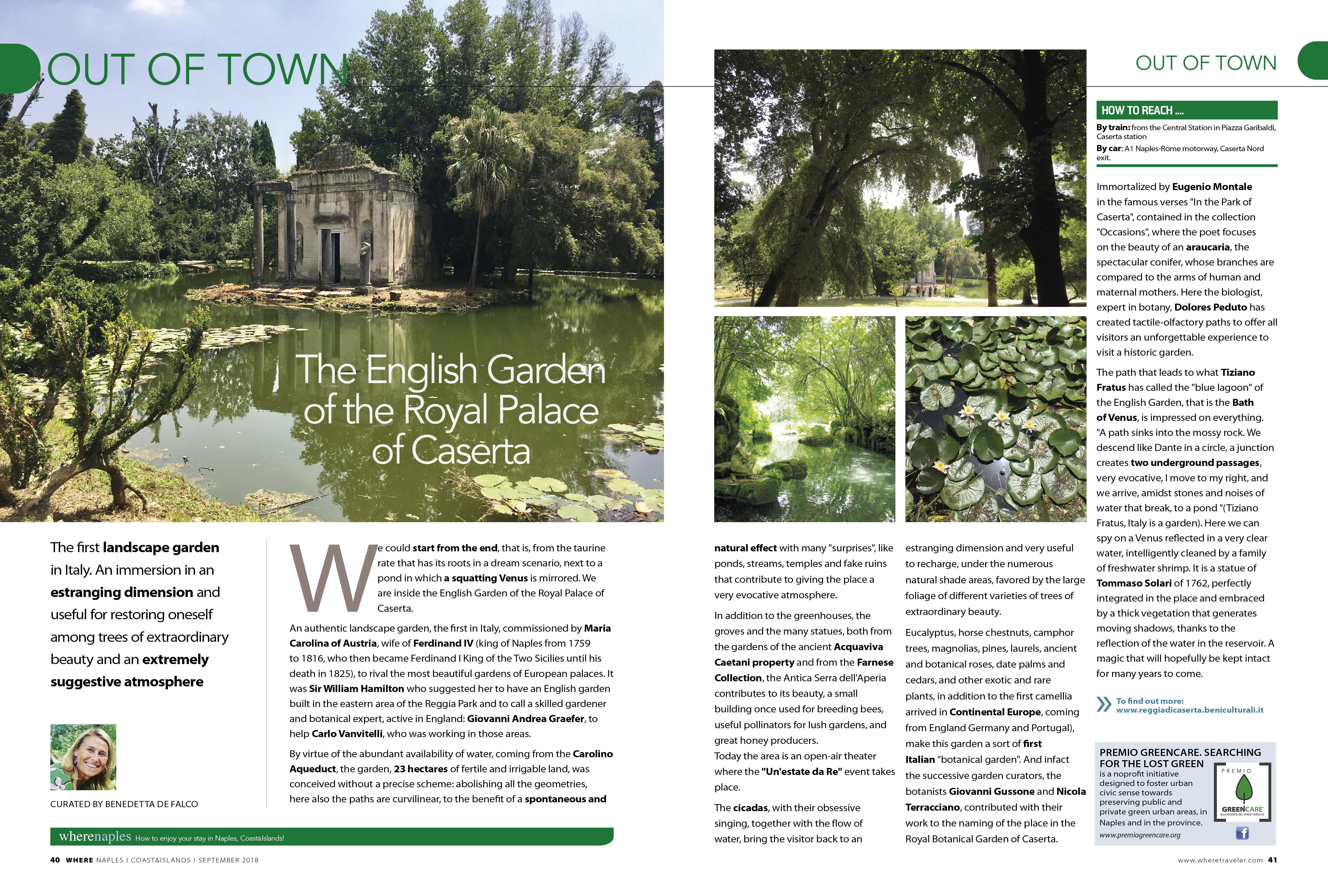 Come Fare Un Giardino Inglese le meraviglie del giardino inglese di caserta - premio greencare
