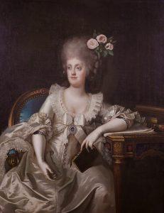 Maria Carolina in un ritratto di Camillo Landini (1787)