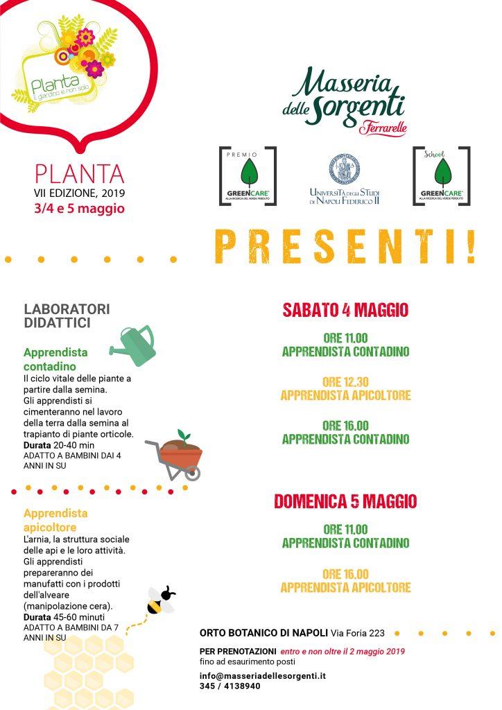 Locandina Masseria delle Sorgenti Ferrarelle per Planta 2019