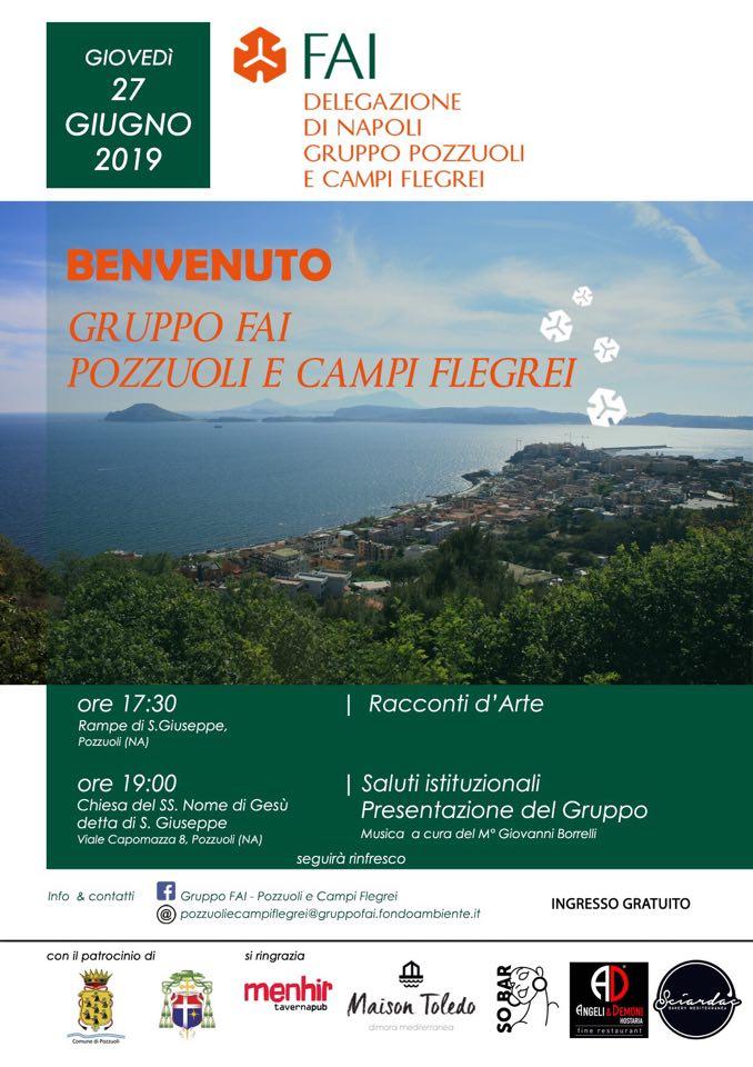 Locandina evento di presentazione FAI Pozzuoli e Campi Flegrei