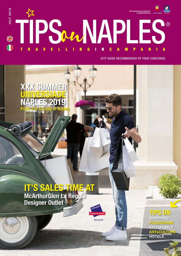 La cover di Tips on Naples di luglio 2019