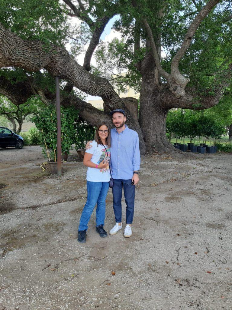 L'agronomo Salvatore Terrano con Caterina Coppola
