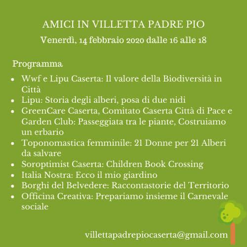 Il Programma di Amici in Villetta Padre Pio